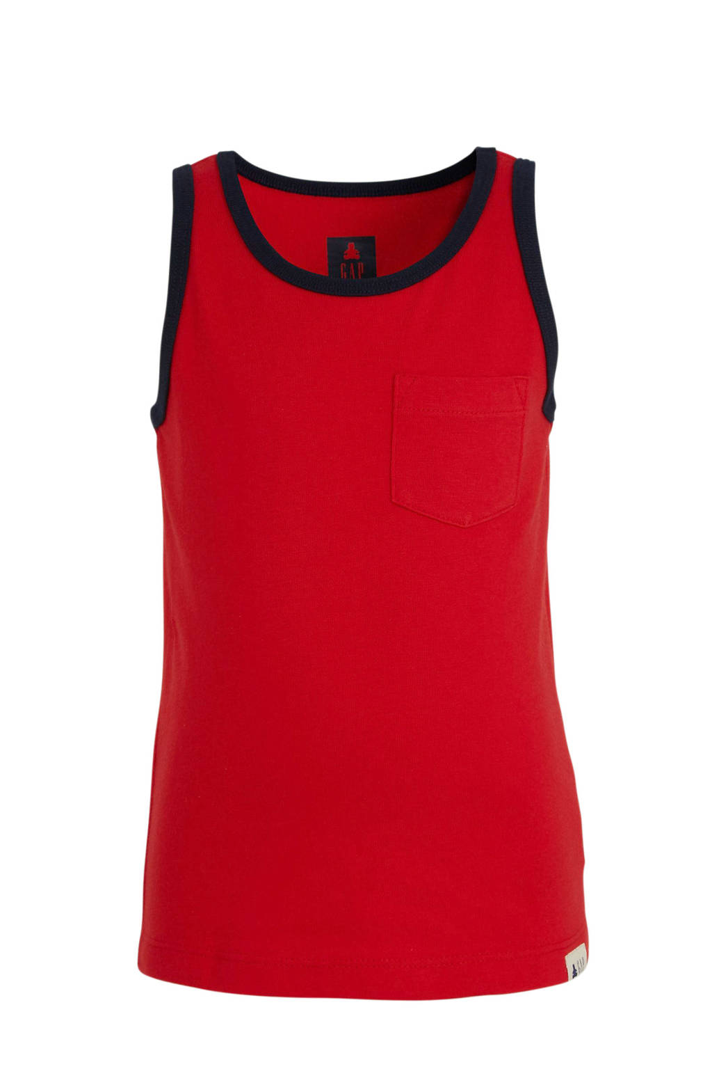 GAP singlet rood/donkerblauw, Rood/donkerblauw