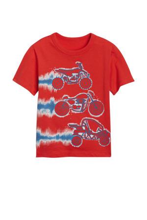 T-shirt met dierenprint rood
