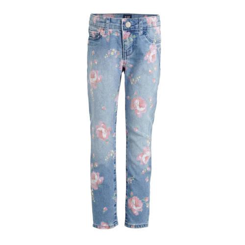 GAP gebloemde skinny jeans blauw