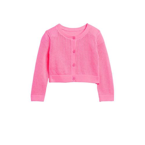 GAP baby vest met textuur roze
