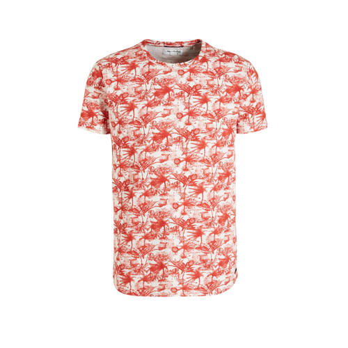 No Excess T-shirt met all over print rood