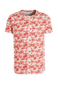 No Excess T-shirt met all over print rood, Rood