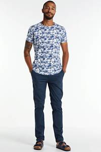 No Excess T-shirt met all over print blauw, Blauw