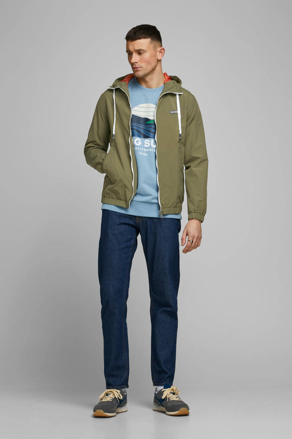 JACK & JONES ORIGINALS zomerjas groen, Groen