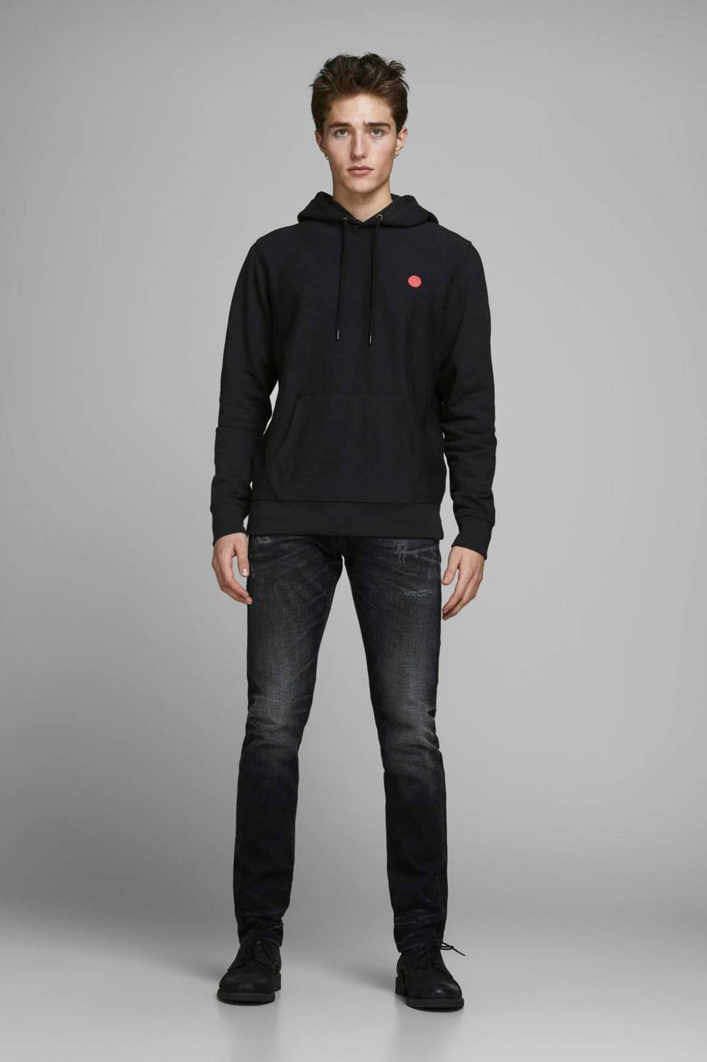 JACK & JONES PREMIUM hoodie met logo black, Black
