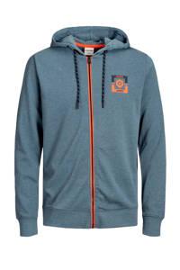 JACK & JONES CORE vest met logo grijsblauw, Grijsblauw