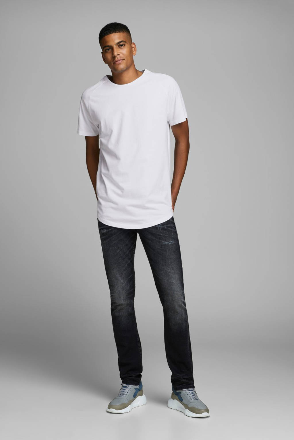 JACK & JONES ESSENTIALS T-shirt Curved wit, Wit