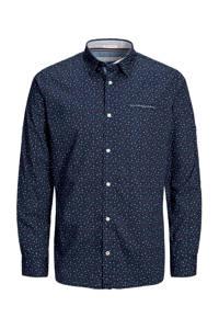 JACK & JONES ORIGINALS regular fit overhemd met all over print marine, Marine