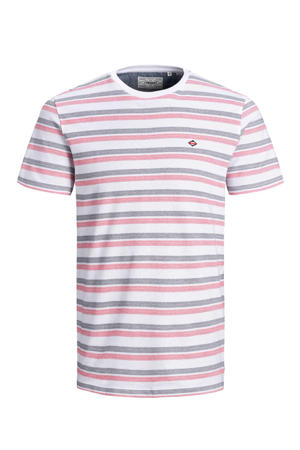 gestreept T-shirt met biologisch katoen rood