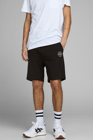 regular fit sweatshort zwart