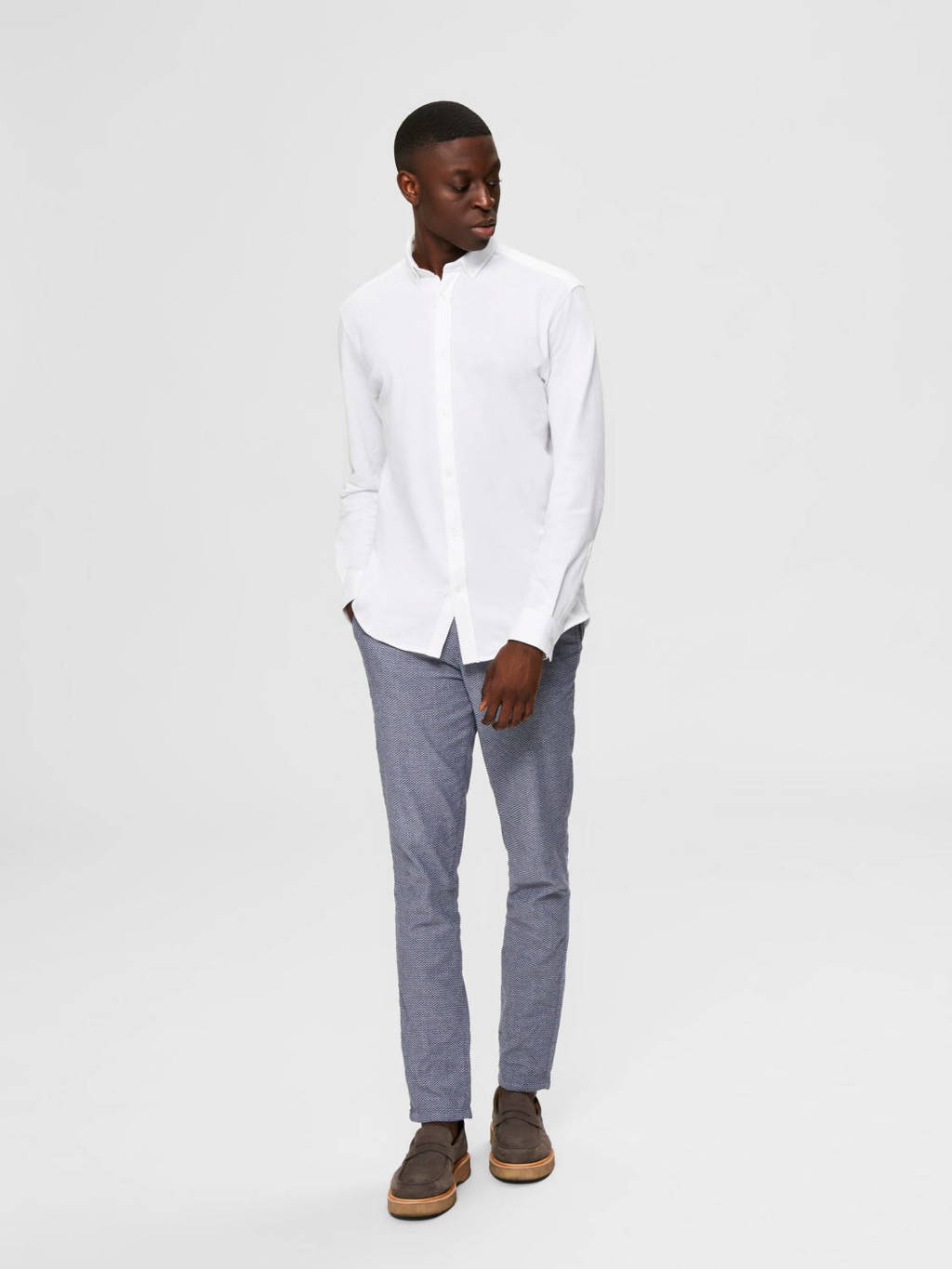 SELECTED HOMME slim fit overhemd wit, Wit