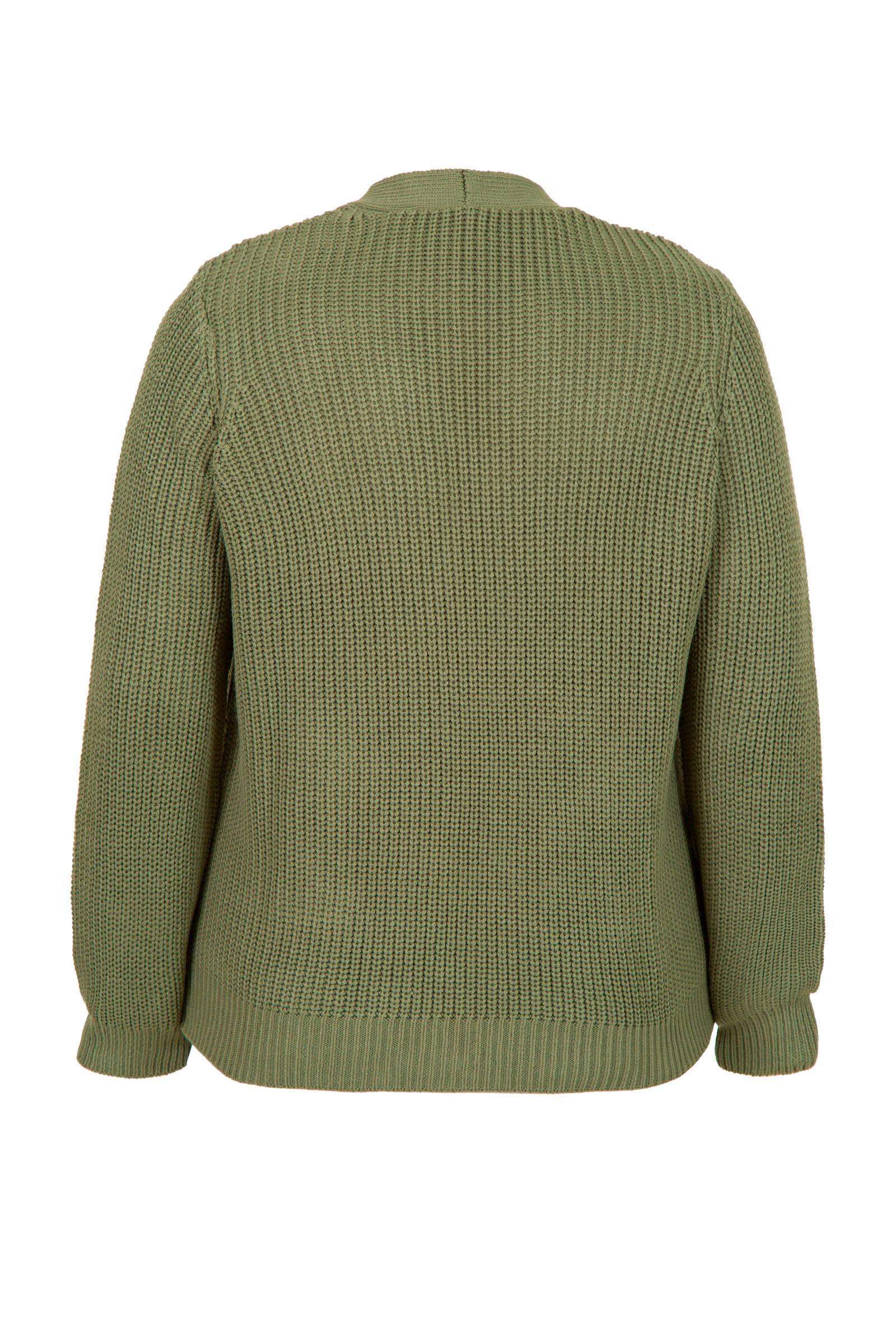 Miss Etam Plus vest groen