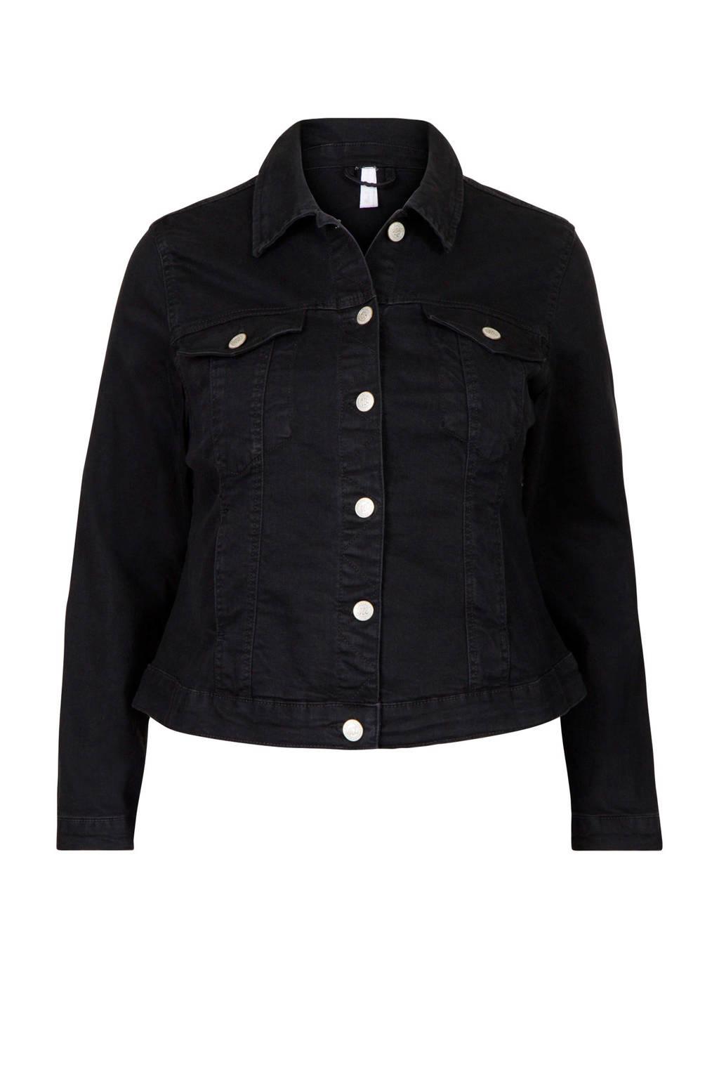 Miss Etam Plus spijkerjasje zwart, Zwart