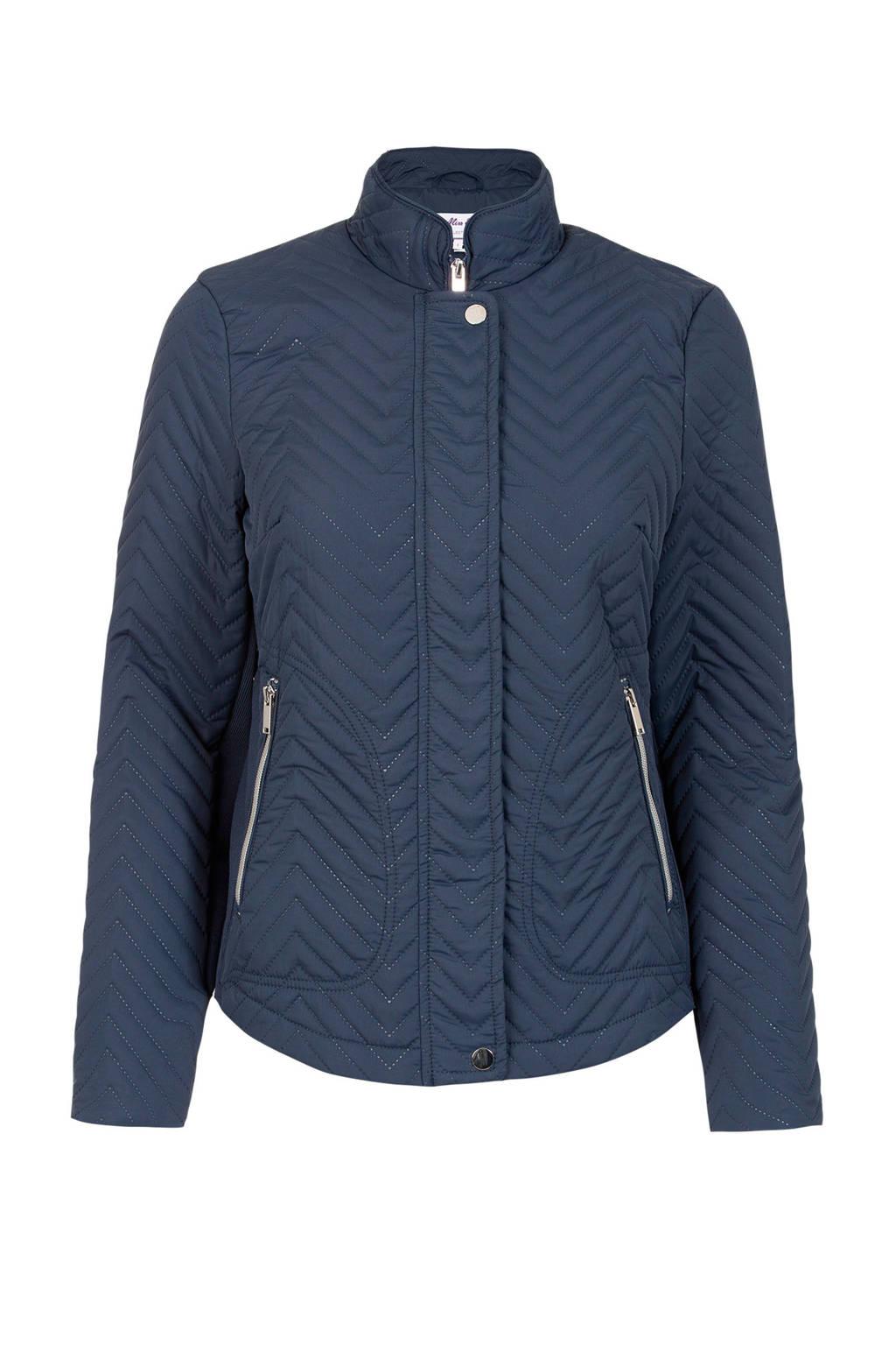 Miss Etam Regulier gewatteerde jas blauw, Blauw