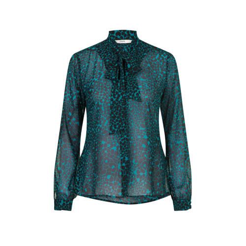 Steps blouse met all over print zwart