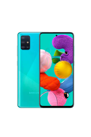 Galaxy A51 smartphone (blue)