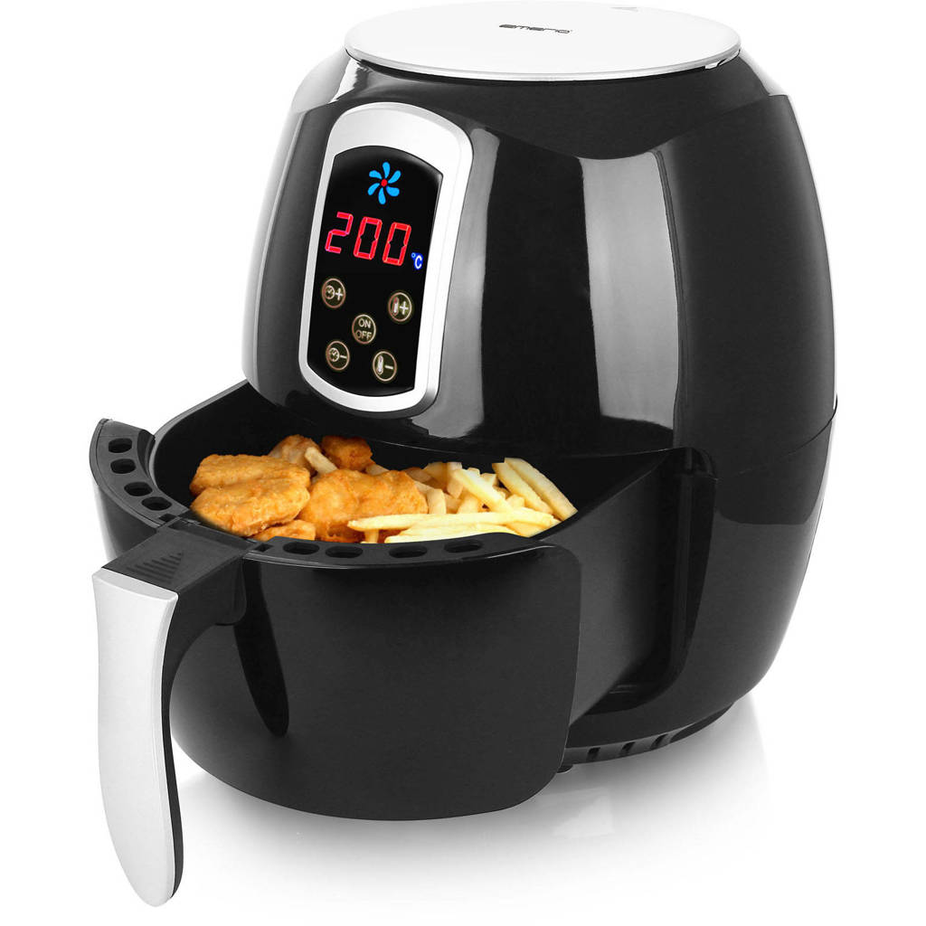 Emerio AF-115668 hetelucht friteuse, Zwart