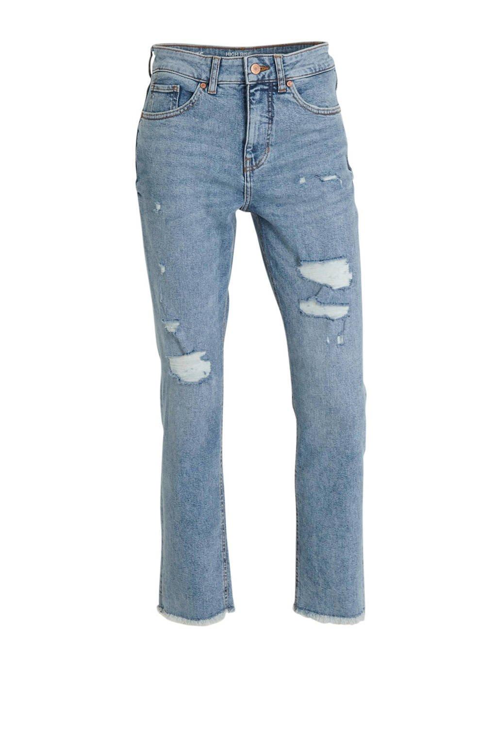 C&A Clockhouse high waist straight fit jeans blauw, Blauw