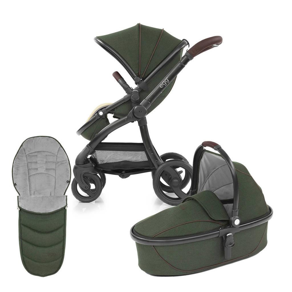 Egg kinderwagen 2-in-1 met voetenzak Country Green - Black Chassis, Country Green / black Chassis