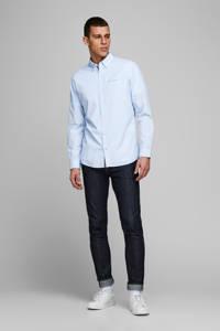 JACK & JONES ESSENTIALS slim fit overhemd met all over print lichtblauw, Lichtblauw