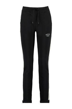 slim fit joggingbroek met zijstreep zwart
