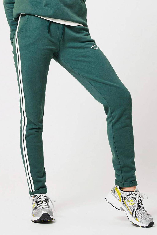 America Today slim fit joggingbroek met zijstreep groen, Groen