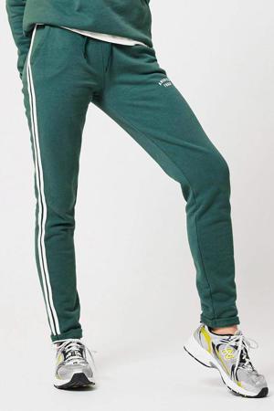 slim fit joggingbroek met zijstreep groen