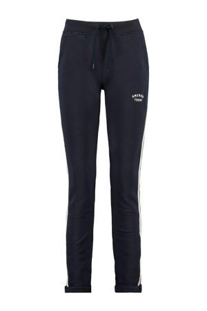 slim fit joggingbroek met zijstreep donkerblauw