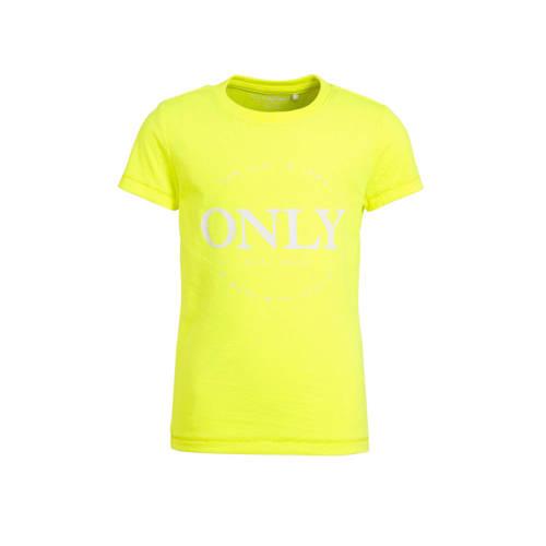 KIDS ONLY T-shirt Logo geel