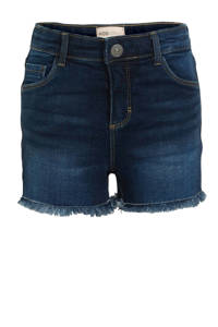 KIDS ONLY high waist jeans short Rachel donkerblauw, Donkerblauw
