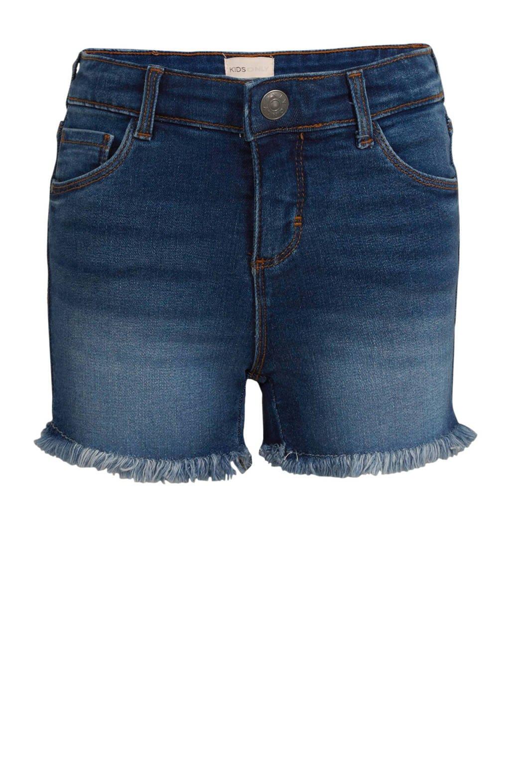 KIDS ONLY high waist straight fit jeans short Rachel light denim, Light denim