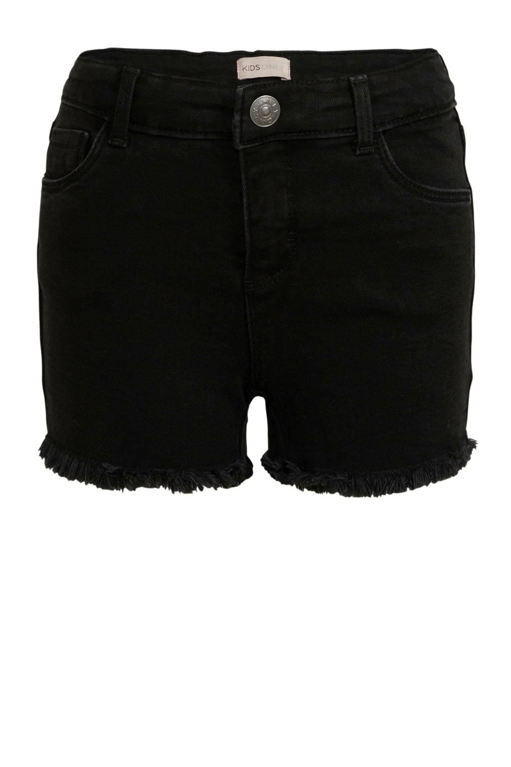KIDS ONLY hight waist short Rachel zwart, Zwart