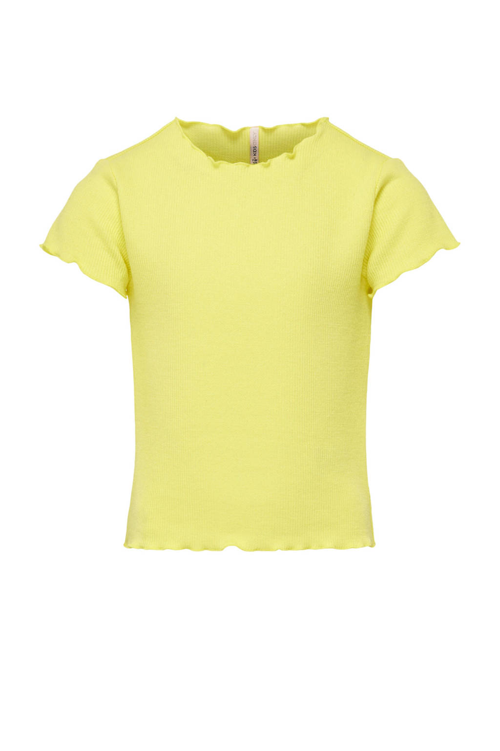 KIDS ONLY cropped T-shirt geel, Geel