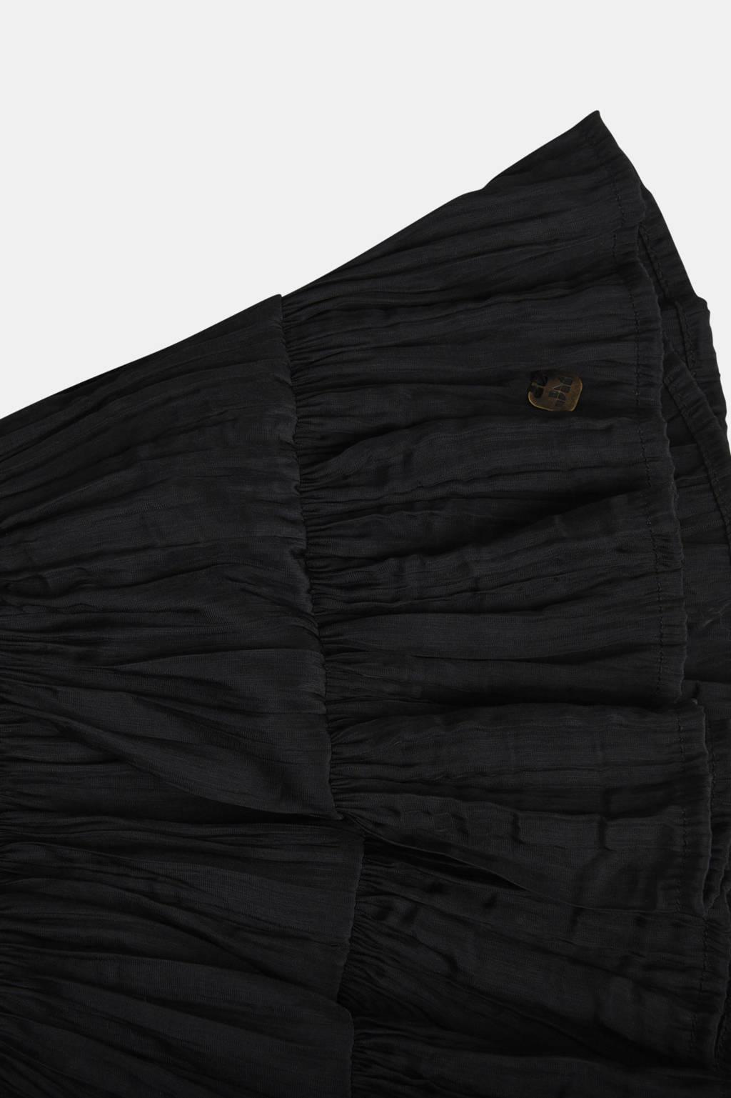 Jill rok Jacq met plooien zwart, Zwart