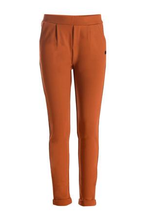 broek Stripe met zijstreep donker oranje/zilver/goud