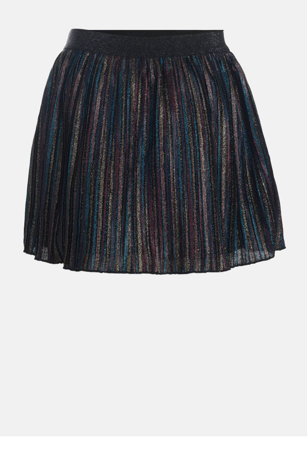 JILL MITCH semi-transparante rok Titter met glitters donkerblauw/multi, Donkerblauw/multi