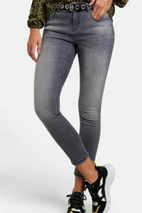 Eksept by Shoeby cropped high waist skinny jeans Ametist grijs, Grijs