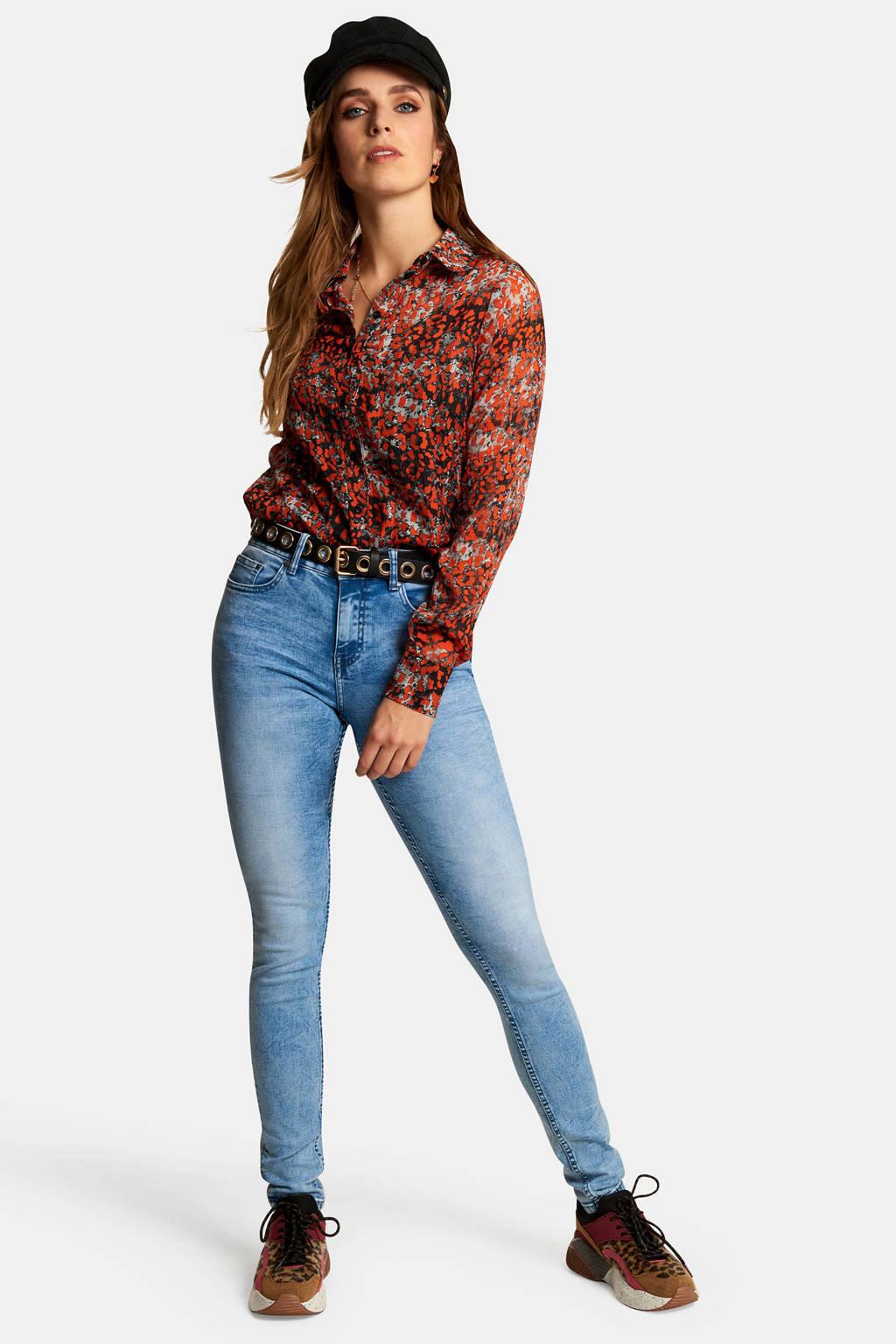 Eksept by Shoeby skinny fit jeans blauw, Blauw