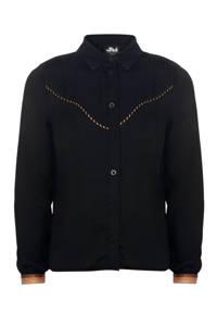 Jill blouse Tavi met glitters zwart/brons/goud, Zwart/brons/goud
