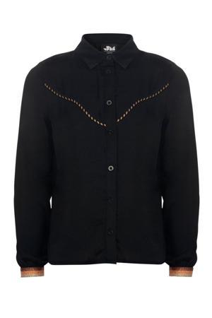blouse Tavi met glitters zwart/brons/goud