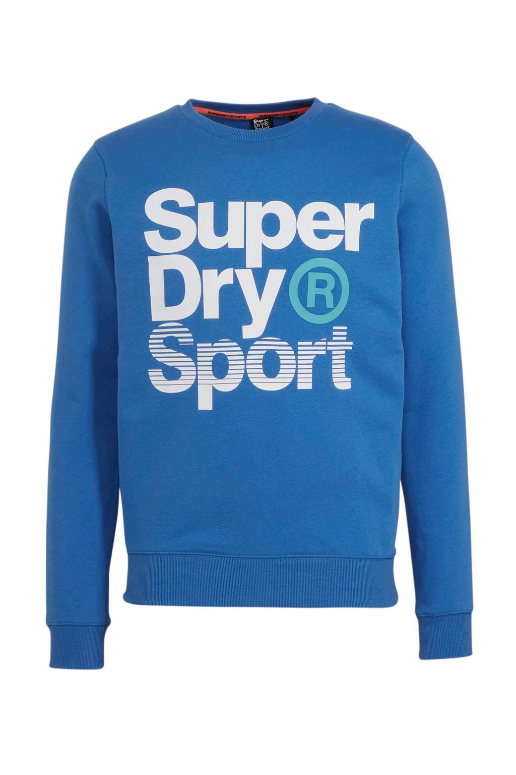 Superdry Sport   sweater blauw, Blauw