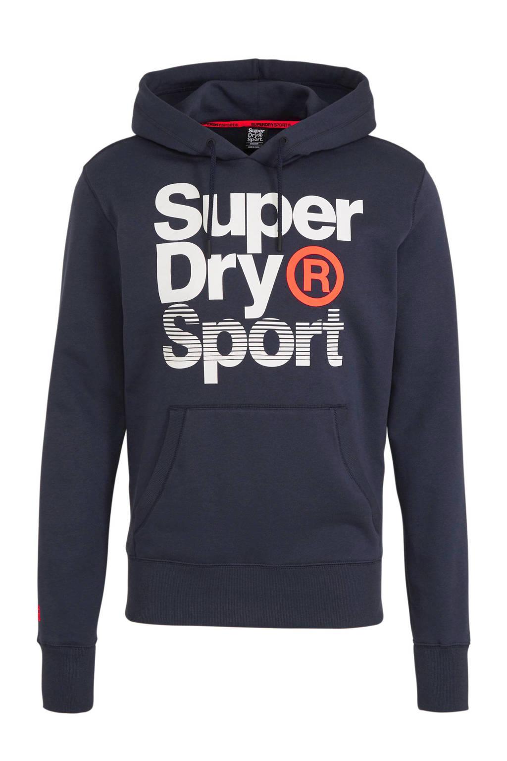 Superdry Sport   sweater donkerblauw, Donkerblauw
