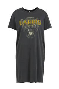 ONLY T-shirtjurk Lucy met printopdruk zwart, Zwart