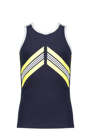 top Kanit donkerblauw/geel/wit