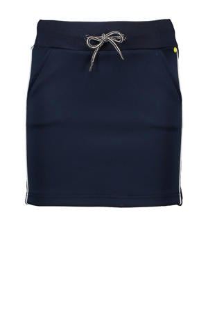 rok Nenna met contrastbies donkerblauw/wit
