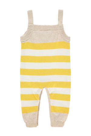 baby gestreept boxpak Jamestown van biologisch katoen ecru/geel/wit