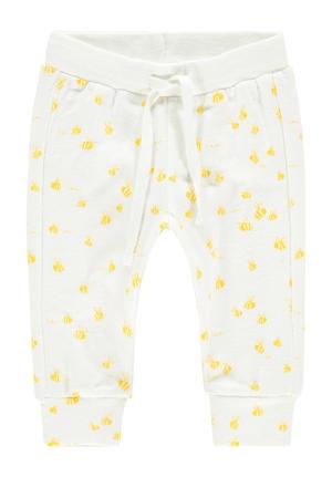 baby broek Darling met biologisch katoen wit/geel