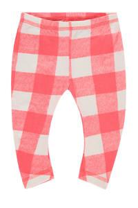 IMPS&ELFS baby geruite legging Saint James met biologisch katoen roze/wit, Roze/wit