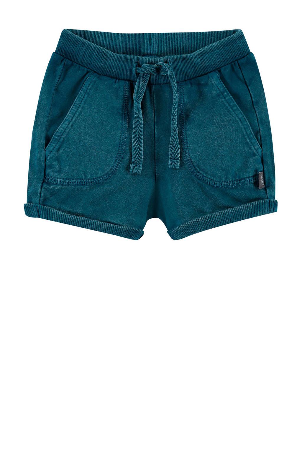 IMPS&ELFS baby regular fit short Campbell met biologisch katoen donkerblauw, Donkerblauw