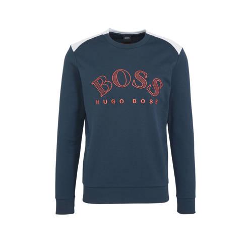 BOSS Athleisure sweater met logo donkerblauw